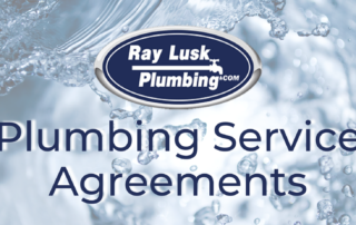 """Image text reads: """"Plumbing Service Agreements"""""""
