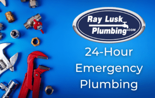 """Image text reads: """"24 hour Emergency Plumbing"""""""