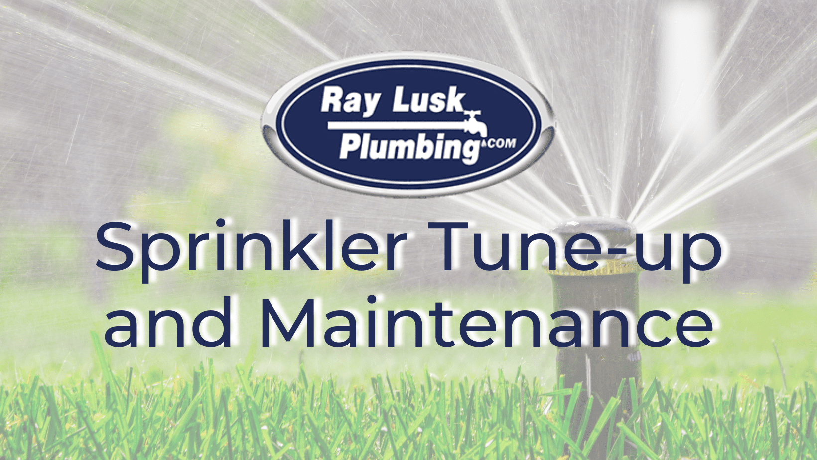 """Image text reads: """"Sprinkler Tune-Up and Maintenance"""""""
