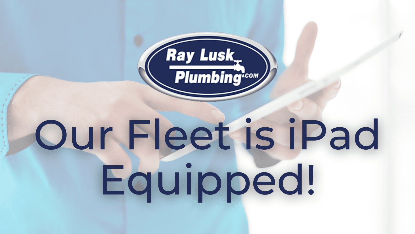 Image text reads: Our fleet is iPad equipped