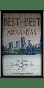 Best of the Best in Central Arkansas - Best Plumber Award 2005