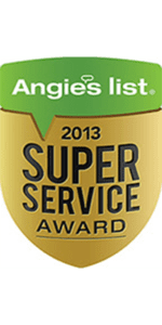 Angie's List Super Service Award for 2013