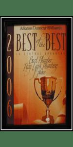 Best of the Best in Central Arkansas - Best Plumber Award 2006