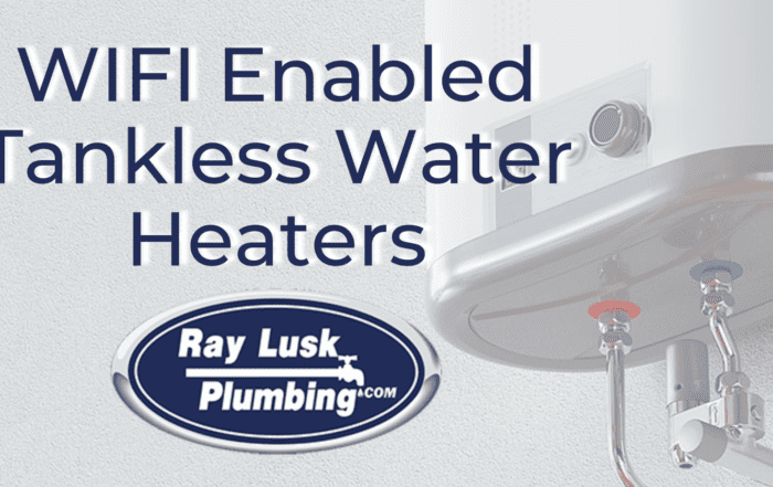 Image text reads: WIFI Enabled Tankless Water Heaters