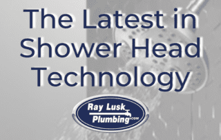 Image text reads: The Latest in New Shower Head Technology